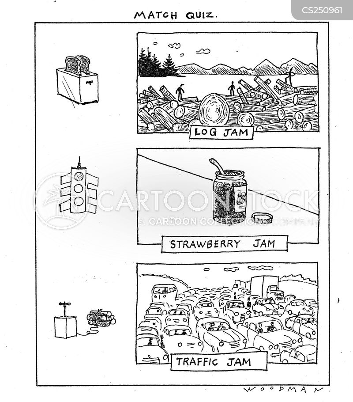 log jams cartoon