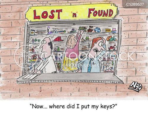 lost keys cartoon