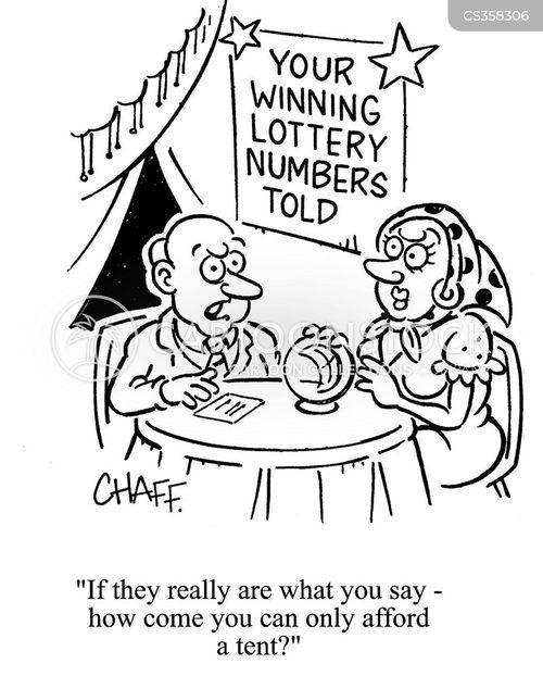 lottery numbers cartoon