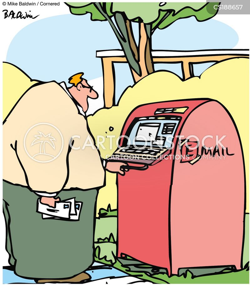 mail box cartoon