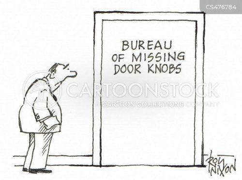 door knob cartoon