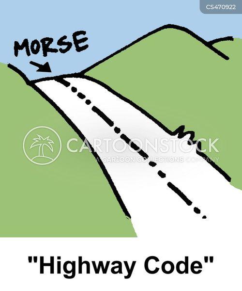 morse-code cartoon