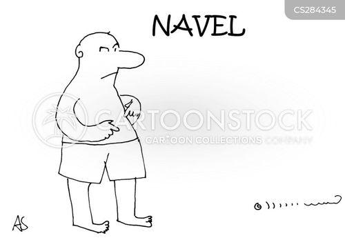 navel cartoon