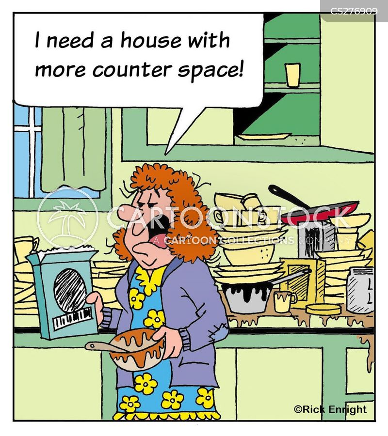 dirty dishes cartoon