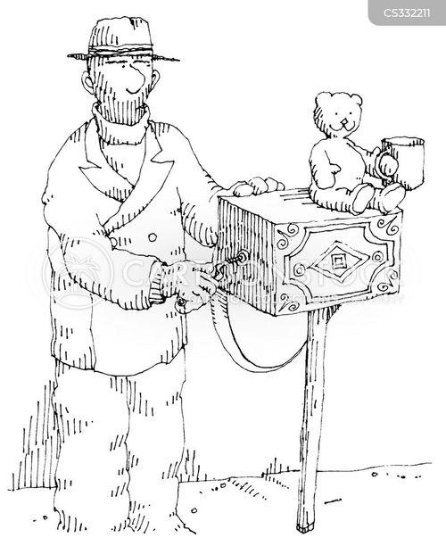 organ grinders cartoon