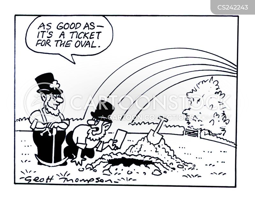 buried gold cartoon