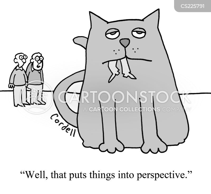 forced perspective cartoon