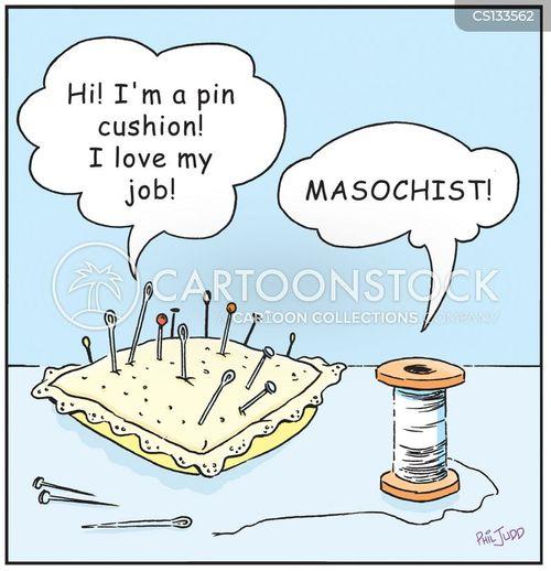needle and thread cartoon