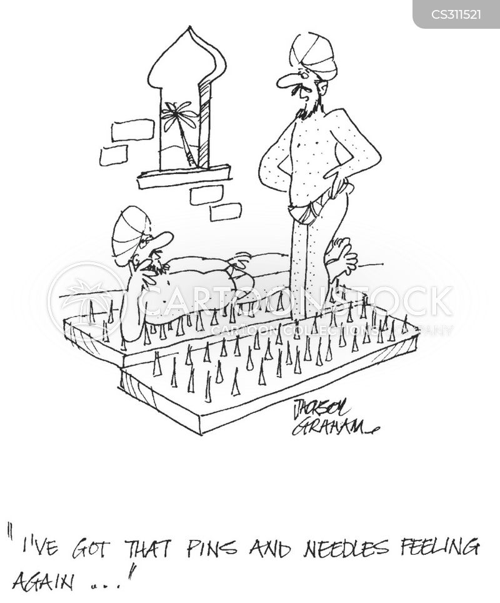 pins and needles cartoon