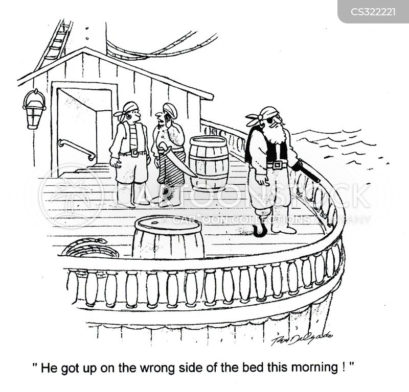 wrong side of the bed cartoon