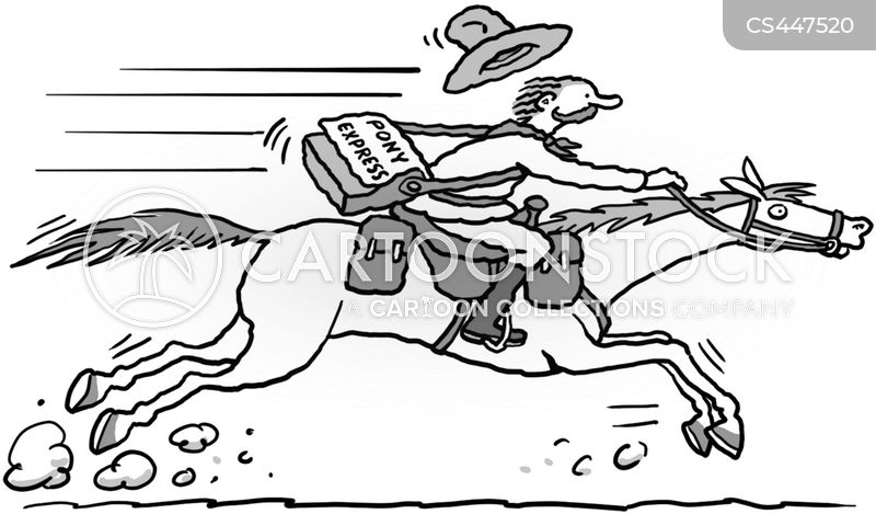 horse travel cartoon