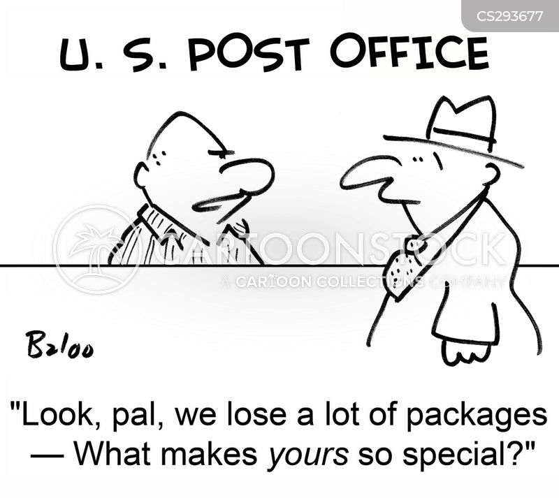 mail clerk cartoon