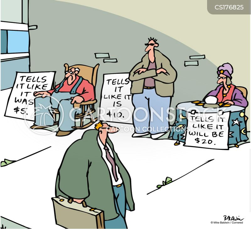 fortune telling cartoon