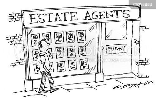 real-estate agents cartoon