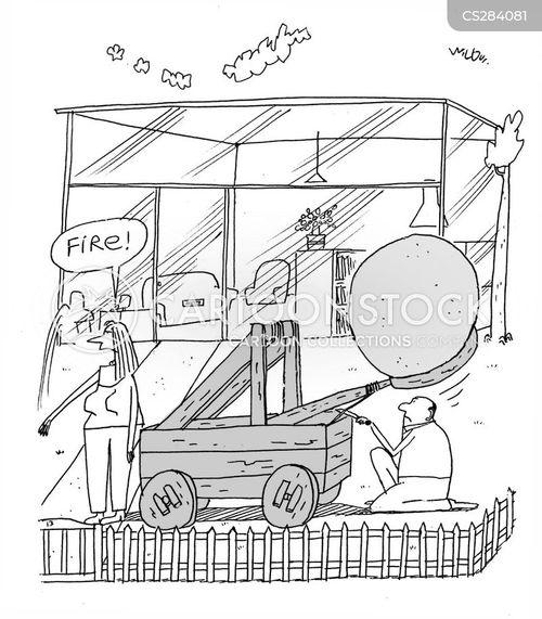 glass houses cartoon