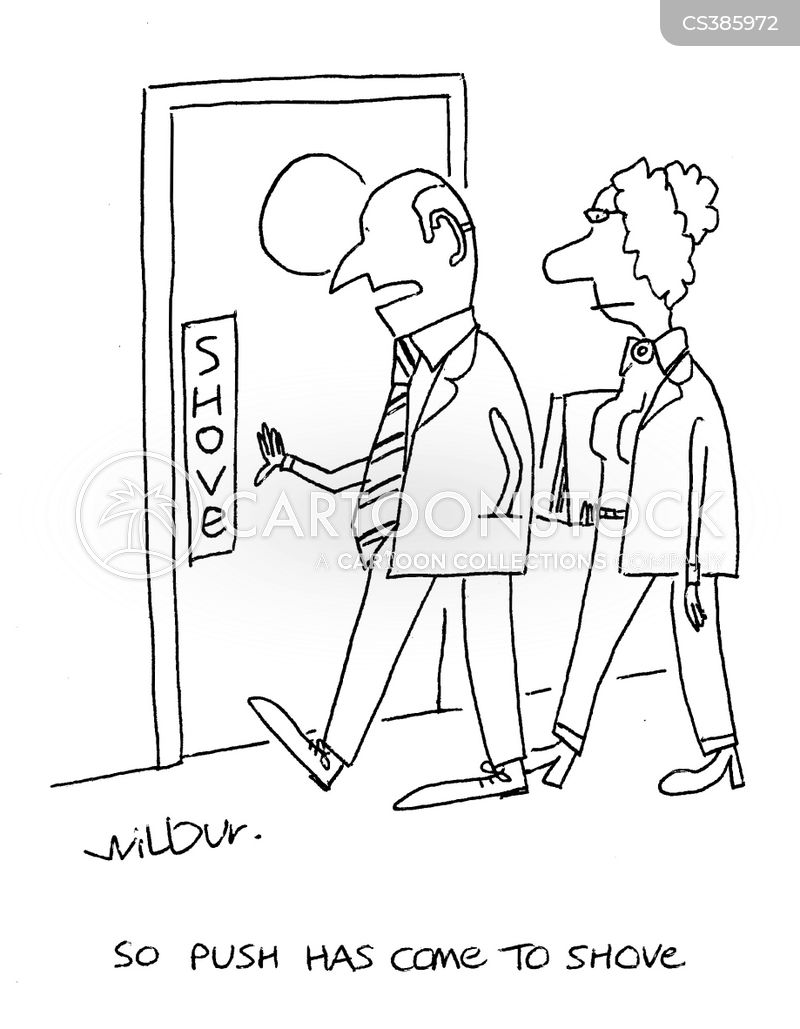 push door cartoon