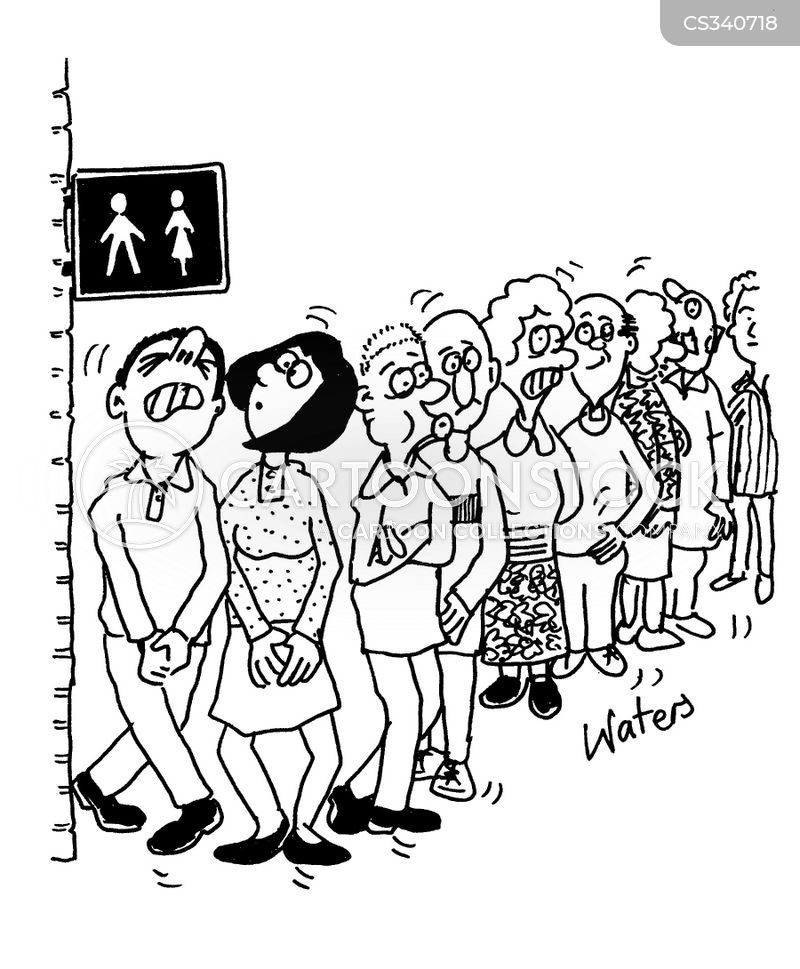 Toilet Queue Cartoons And Comics Funny Pictures From