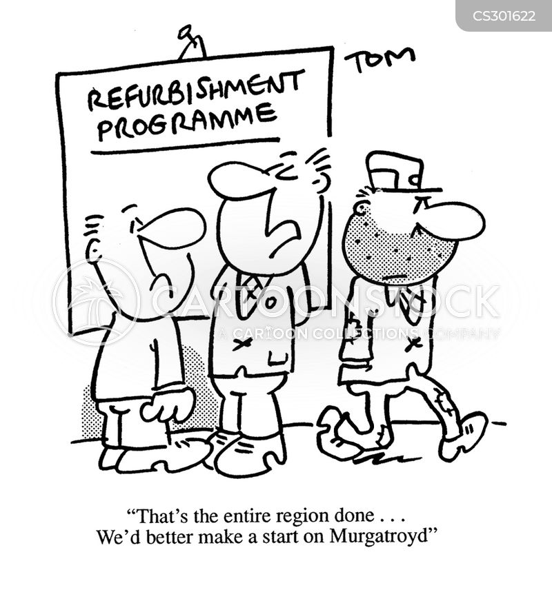 refurbishment cartoon
