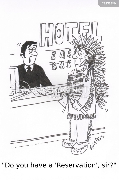 indian reservations cartoon
