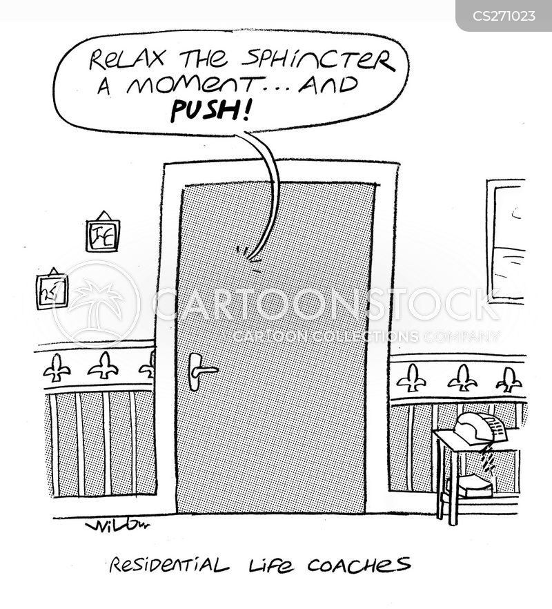 going to the loo cartoon