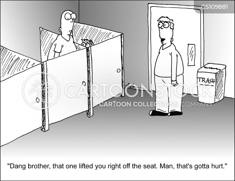 bathroom humor cartoon