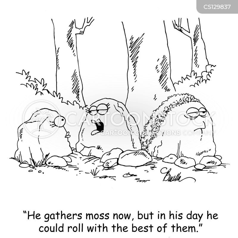 gathering moss cartoon