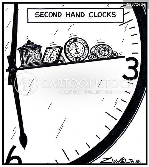 second hands cartoon