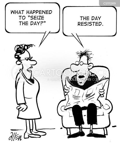 seize the day cartoon