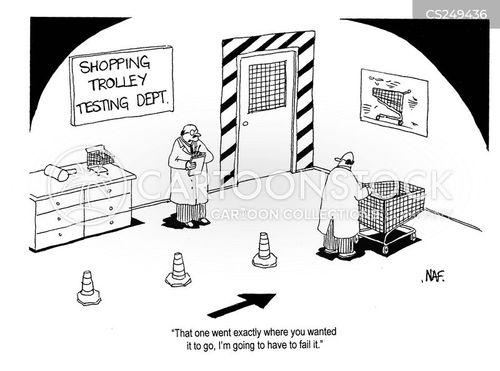 shopping trolley cartoon