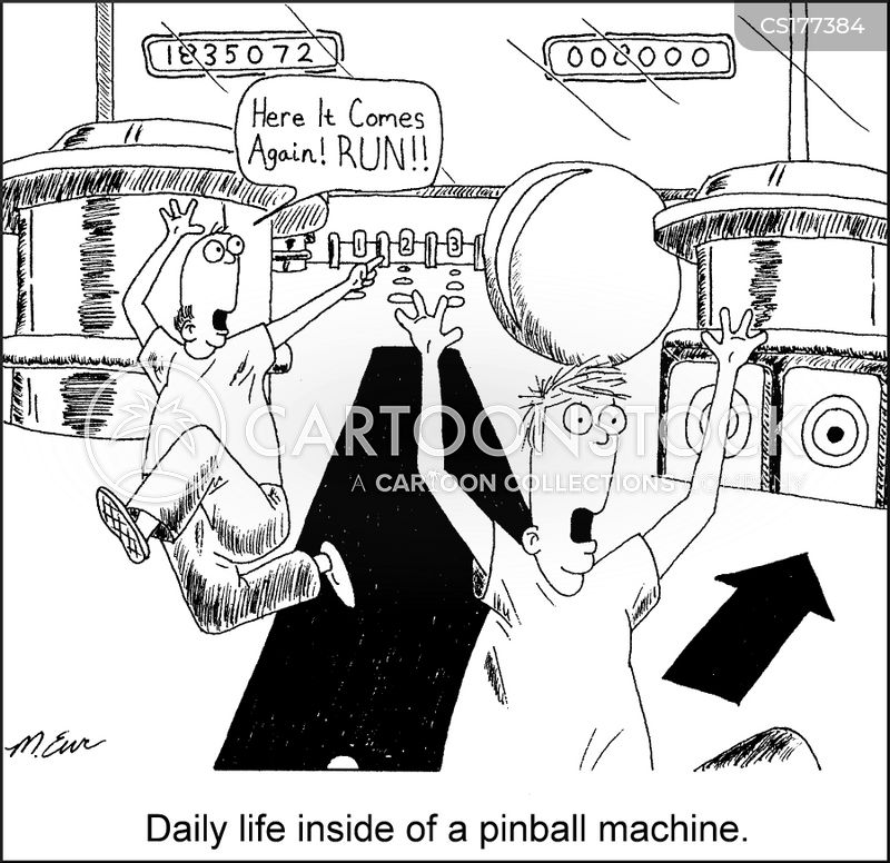 pinball cartoon
