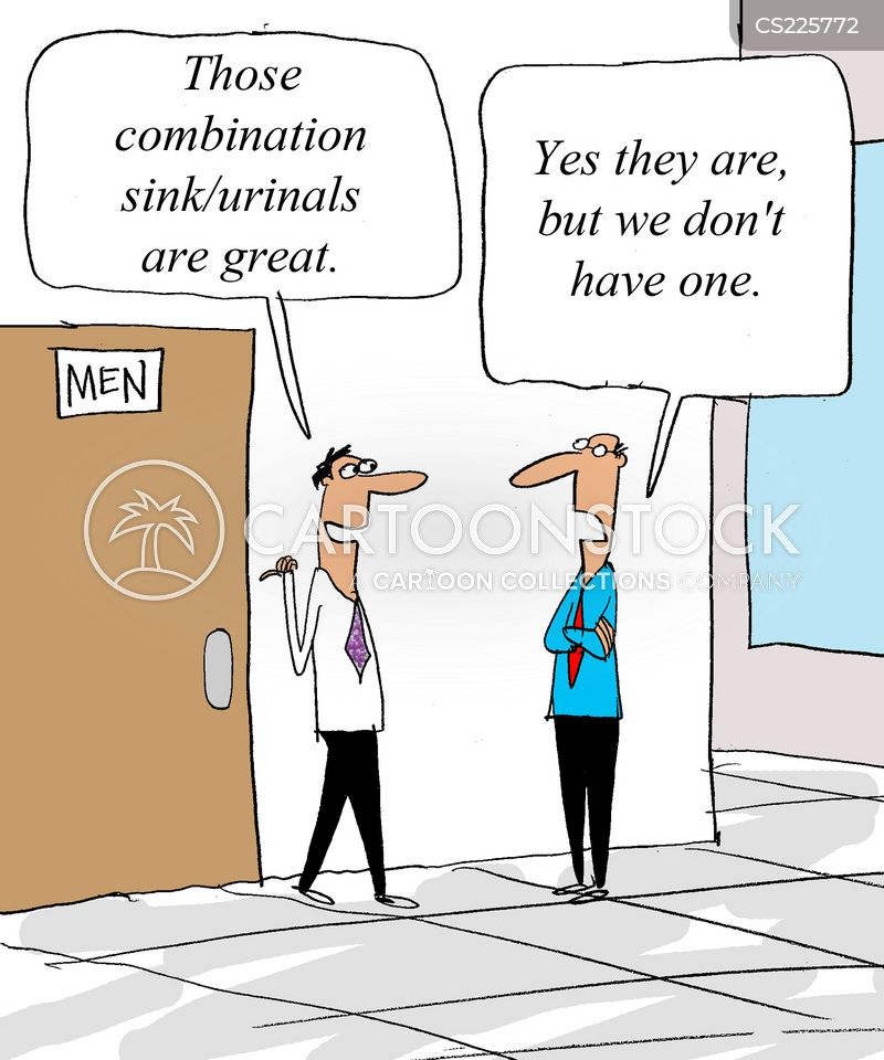 corporate bathrooms cartoon