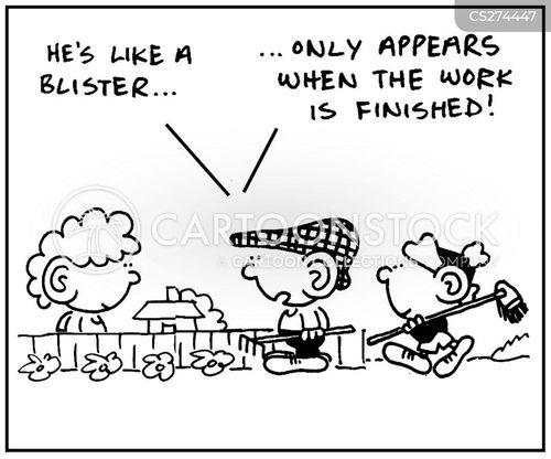 blister cartoon