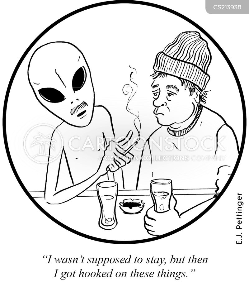 extra-terrestrials cartoon
