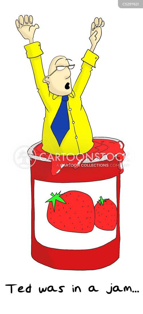 jam jar cartoon