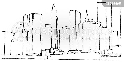 skylines cartoon
