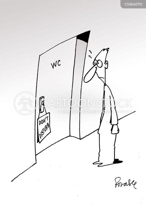 mens rooms cartoon