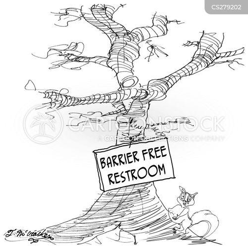 barrier free cartoon