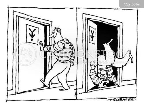 wrong way round cartoon