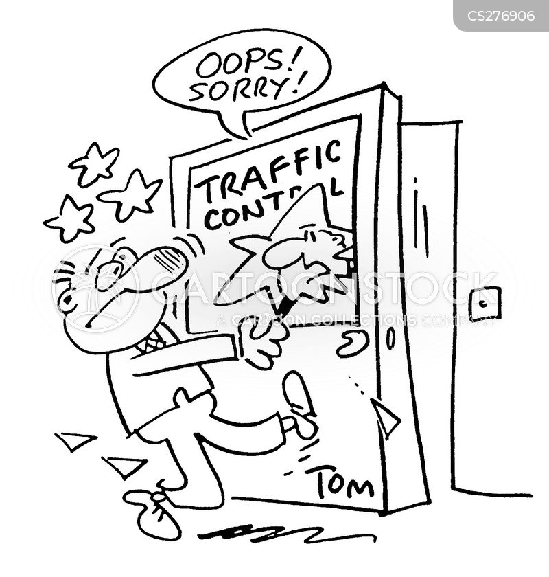 traffic control cartoon