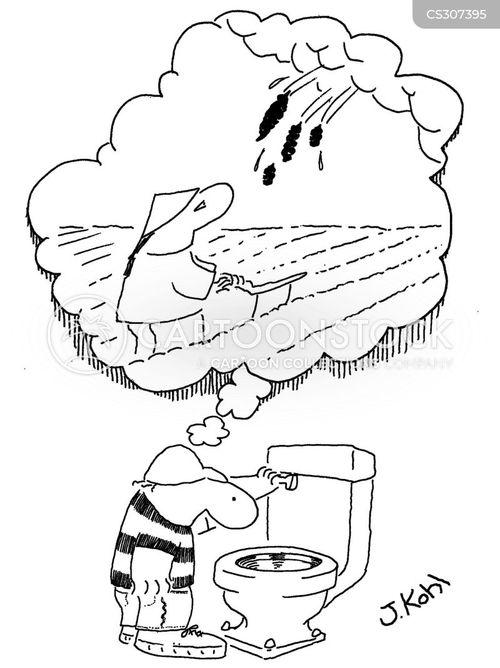 toilet flush cartoon