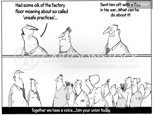 trade unionists cartoon