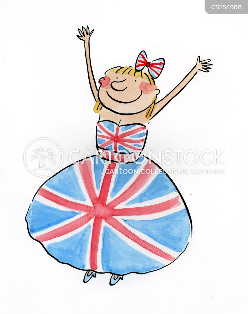 british flag cartoon