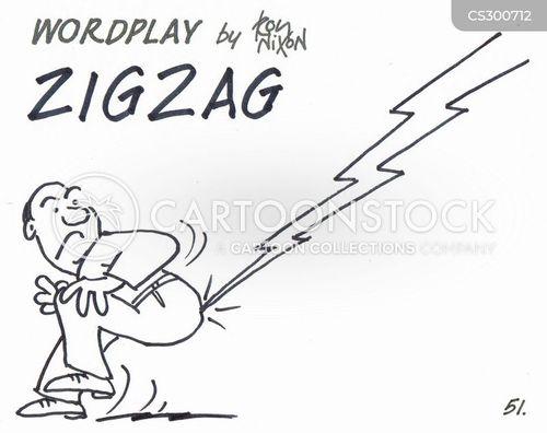lightening strike cartoon