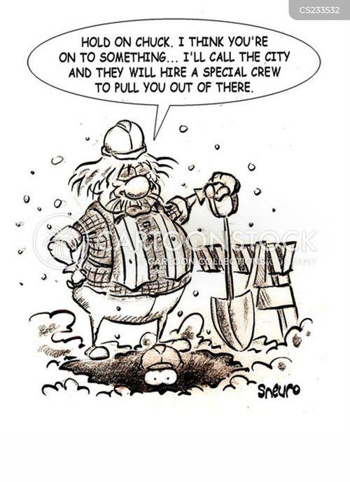 road crew cartoon