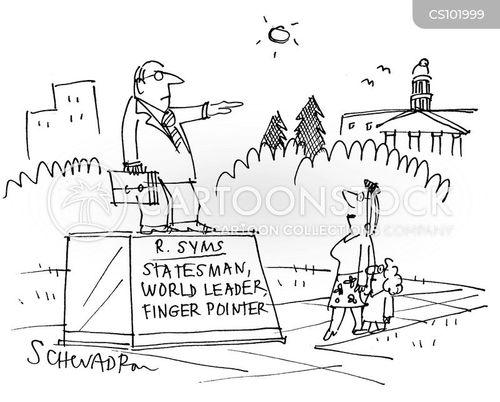 finger pointers cartoon