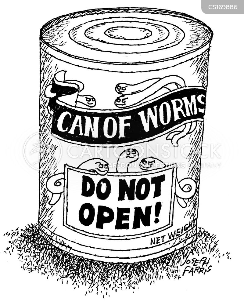 Can Of Worms cartoons, Can Of Worms cartoon, funny, Can Of Worms picture, Can Of Worms pictures, Can Of Worms image, Can Of Worms images, Can Of Worms illustration, Can Of Worms illustrations