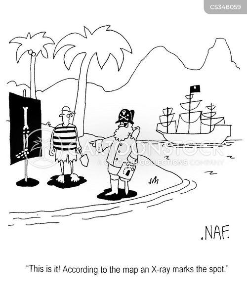 pirate map cartoon