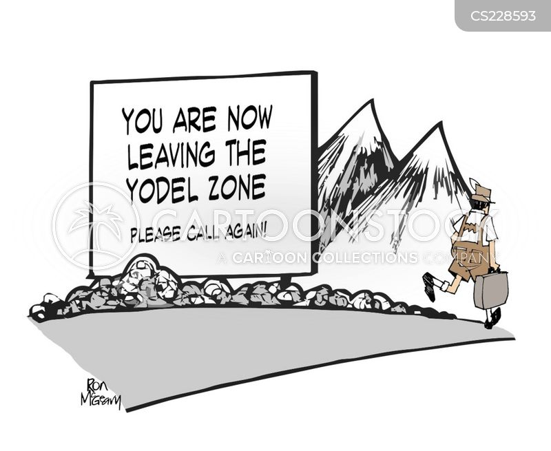 swiss alps cartoon