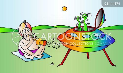 snake charming cartoon