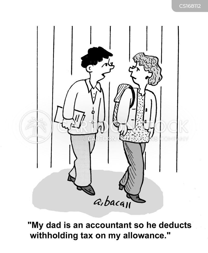 tax deductions cartoon